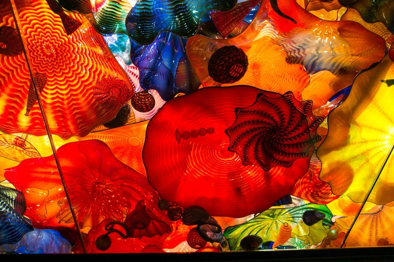 Chihuly glass display
